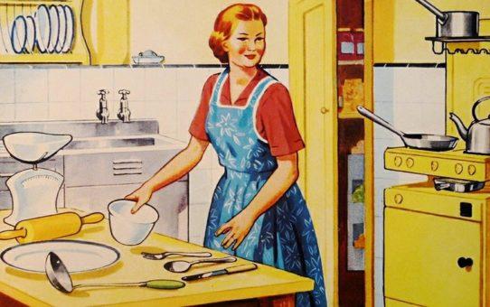 mamma vintage in cucina